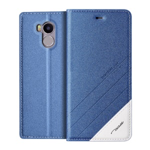 TSCASE Matte Sand-like Texture PU Leather Stand Case for Xiaomi Redmi 4 Prime / Pro - Blue