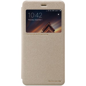 NILLKIN Sparkle Series for Xiaomi Redmi 4a View Window Leather Flip Shell - Gold