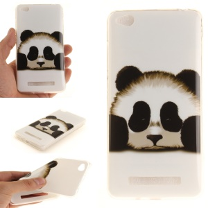 IMD TPU Patterned Cover Mobile Casing for Xiaomi Redmi 4a - Panda