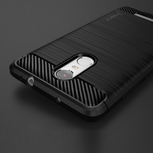 IPAKY Brushed TPU Gel Shell Case for Xiaomi Redmi Note 3 / Note 3 Pro - Black