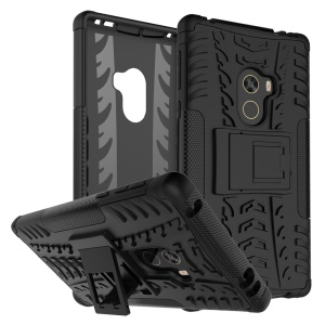 Tire Pattern Detachable 2-In-1 PC + TPU Kickstand Case for Xiaomi Mi Mix - Black