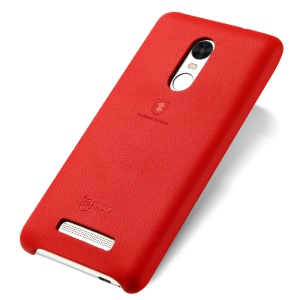 LENUO Music Case II for Xiaomi Redmi Note 3 Pro Special Edition Leather Coated PC Mobile Casing - Red