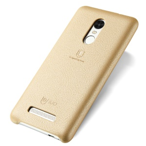 LENUO Music Case II Leather Coated Hard Phone Case for Xiaomi Redmi Note 3 Pro Special Edition - Gold