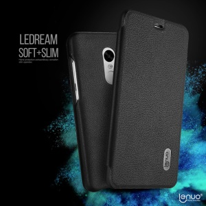 LENUO Ledream Card Holder Leather Cell Phone Case for Xiaomi Redmi Note 4 - Black