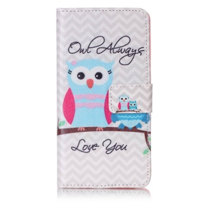 Patterned Leather Wallet Phone Case for Xiaomi Redmi 3s - Owl Always Love You