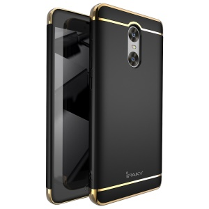 IPAKY 3-In-1 Plating PC Hard Phone Case for Xiaomi Redmi Pro - Black