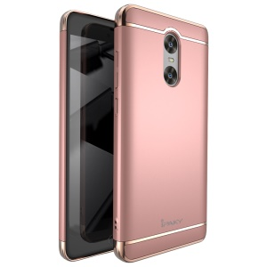 IPAKY 3 in 1 Plated PC Hard Mobile Case for Xiaomi Redmi Pro - Rose Gold