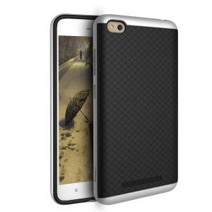 IPAKY PC Frame + TPU Back Hybrid Case for Xiaomi Redmi 4a - Silver