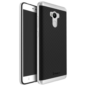 IPAKY PC Frame + TPU Back Hybrid Case for Xiaomi Redmi 4 Prime / Pro - Sliver