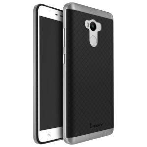 IPAKY Hybrid PC Frame + TPU Back Cover for Xiaomi Redmi 4 Prime / Pro - Grey