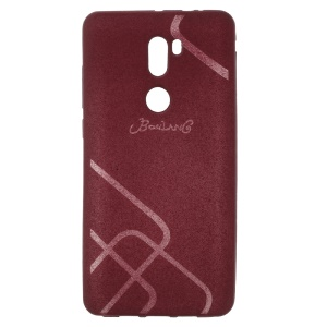 BOSILANG for Xiaomi Mi 5s Plus Lines Pattern Phone Cover Matte TPU - Wine Red