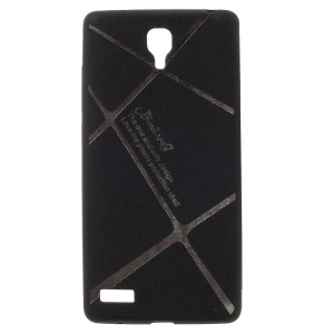 BOSILANG Lines Pattern Matte TPU Gel Cover for Xiaomi Redmi Note - Black
