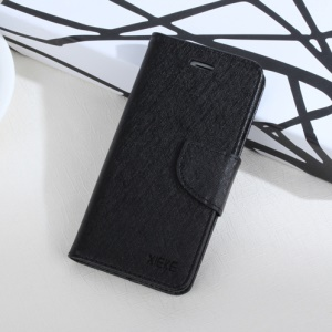 XIEKE Moon Poem Leather Case with Card Slots and Magnet Closure for Xiaomi Redmi Note 4 - Black