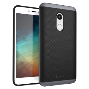 IPAKY 2-Piece PC Bumper + TPU Back Phone Case for Xiaomi Redmi Note 4X - Grey