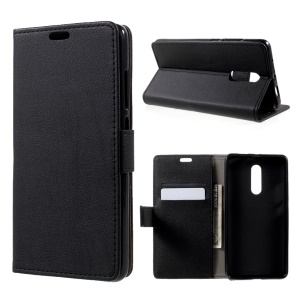 For Xiaomi Redmi Note 4 Protective Wallet PU Leather Case Stand - Black