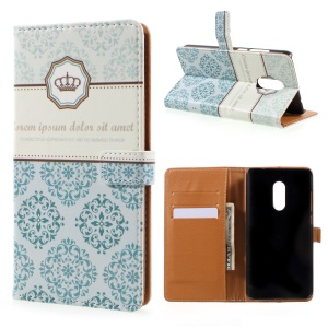 Pattern Printing Leather Card Holder Case for Xiaomi Redmi Note 4 - Damask Flowers