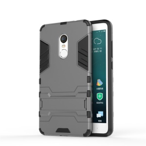 Cool Guard PC TPU Hybrid Shell Case with Kickstand for Xiaomi Redmi Note 4X - Grey