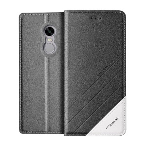 TSCASE Trajectory Auto-absorbed Leather Stand Case for Xiaomi Redmi Note 4X - Grey