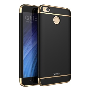 IPAKY 3-in-1 Electroplating PC Hard Phone Case for Xiaomi Redmi 4X - Black