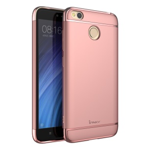 IPAKY 3-in-1 Electroplated PC Mobile Shell für Xiaomi Redmi 4X - Rose Gold