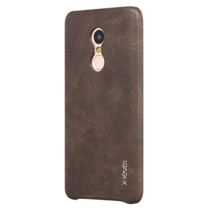 X-LEVEL Vintage Series Leather Coated PC Cover Shell for Xiaomi Redmi Note 4 - Coffee