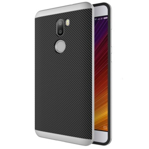 Carbon Fiber PC TPU Back Phone Case for Xiaomi Mi 5s Plus - Silver