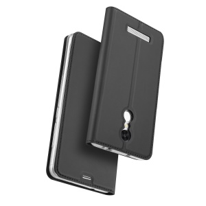 DUX DUCIS Skin Pro Series for Xiaomi Redmi Note 3/Note 3 Pro Business Leather Card Holder Mobile Casing - Dark Grey