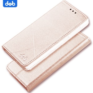 DOB Stitched PU Leather Cell Phone Cover with Card Slots for Xiaomi Mi 5s - Gold