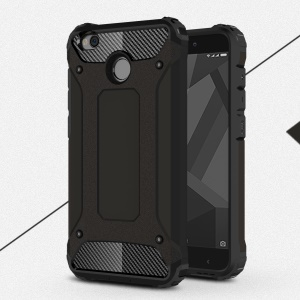 Armor Guard Plastic + TPU Hybrid Case for Xiaomi Redmi 4X - Black