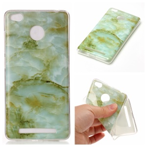 Marble Pattern IMD TPU Cellphone Case for Xiaomi Redmi 3s - Light Green