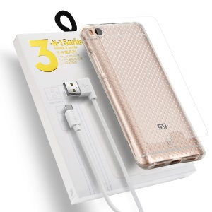 DUX DUCIS Skin Pro 3-in-1 Series for Xiaomi Mi 5s TPU Phone Case + Micro USB Data Cable + Tempered Glass Screen Film