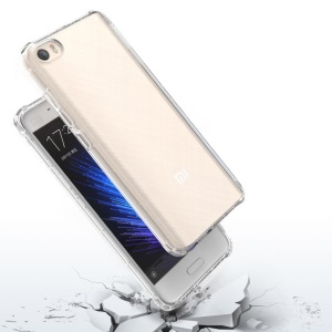 BOW Drop-Proof Clear Soft TPU Shell Cover Case for Xiaomi Mi 5