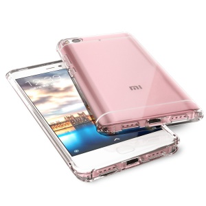 BOW Drop-Proof Clear Soft TPU Back Phone Shell for Xiaomi Mi 5s - Transparent