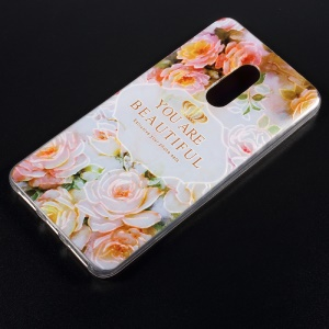 Embossed Pattern TPU Shell Cover for Xiaomi Redmi Note 4 - You Are Beautiful
