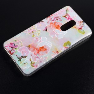 Soft TPU Embossed Pattern Cell Phone Back Cover for Xiaomi Redmi Note 4 - Blooming Flowers