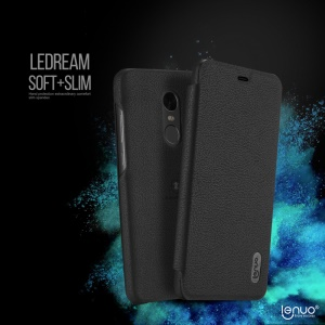 LENUO Ledream Series Leather Folio Case for Xiaomi Redmi Note 4X - Black