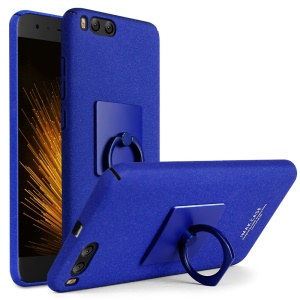 IMAK Cowboy Shell Ring Grip Stent PC Mobile Cover Case + Screen Film for Xiaomi Mi 6 - Blue