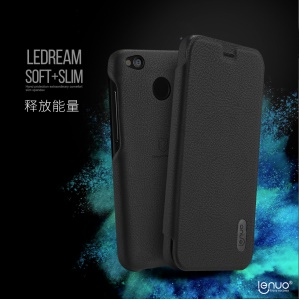 LENUO Ledream Series Leather Case with Card Slot for Xiaomi Redmi 4X - Black