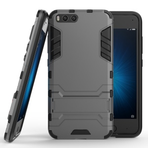 Cool Plastic TPU Hybrid Phone Cover with Kickstand for Xiaomi Mi 6 - Grey