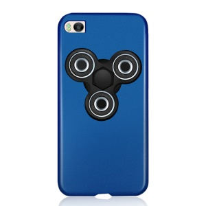 Matte PC Mobile Phone Shell with Removable Tri-Spinner Fidget Spinner for Xiaomi Mi 5s - Blue + Black Spinner