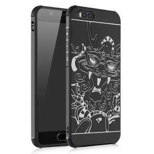 All-wrapped Drop-proof TPU Phone Protective Casing for Xiaomi Mi 6 - Dragon / Black