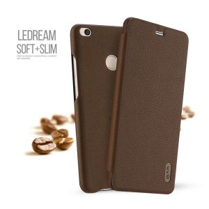 LENUO Ledream Series PU Leather Case Cover for Xiaomi Mi Max 2 - Brown