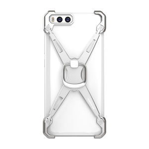 NILLKIN Barde Metal Frame Case with Ring Holder for Xiaomi Mi 6 - Silver