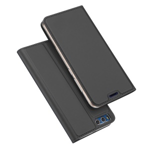 DUX DUCIS Skin Pro Series Leather Card Holder Mobile Case for Xiaomi Mi 6- Dark Grey