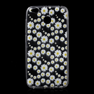 Ultra-thin Patterned TPU Phone Case for Xiaomi Redmi 4X - Daisy