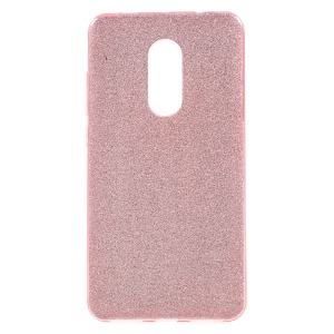 Pure Color PC + TPU + Glitter Paper Back Casing for Xiaomi Redmi Note 4X - Rose Gold