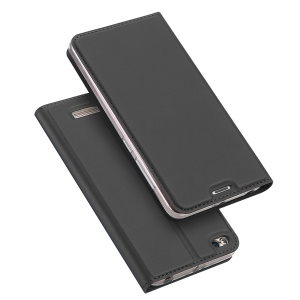 DUX DUCIS Skin Pro Series Card Slot Stand Leather Case for Xiaomi Redmi 4A - Grey