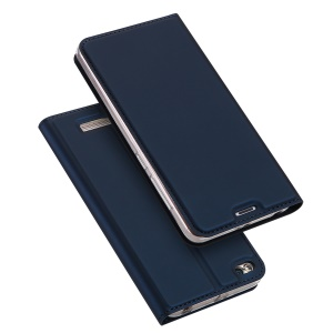 DUX DUCIS Skin Pro Series Card Holder Stand Leather Case for Xiaomi Redmi 4A - Dark Blue