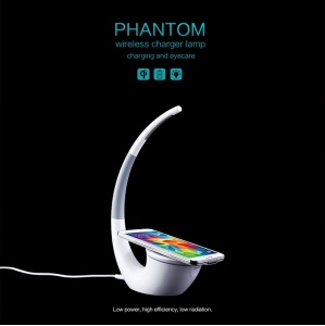 NILLKIN Phantom QI Standard Wireless Charger LED Table Lamp for Samsung S6 / S6 Edge LG Nokia Motorola Etc