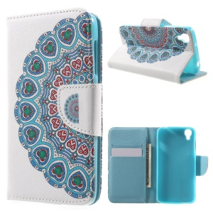 Wallet Leather Stand Phone Case for Alcatel OneTouch Idol 3 (4.7) - Flower
